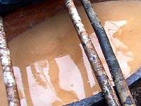 Брожение кауима - напитка из маниока в стволе дерева