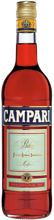 Бутылка аперитива Campari